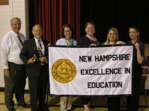ASHLAND ELEMENTARY School was awarded the 2015 K-8 School of Excellence Award on Monday afternoon. (left to right) Napoli Group Senior Area Supervisor Larry Johnston, K-8 Selection Chair and Barnard School Principal Ken Darsney, Principal Shannon Bartlett, EDies Board secretary Jessica Richardson, Selection Committee member Nicole Thulen and Erin LeBlanc of McDonald's Restaurants